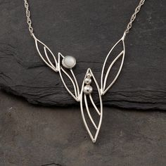 Silver Artisan Necklace Modern One of a Kind Pendant by Artulia, $168.00