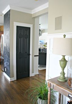 Wood Interior Doors With White Trim honey we're home: black/gray painted interior doors- love the dark