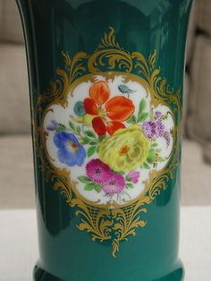 Meissen-hand-painted-floral-vase-2-of-2-listed