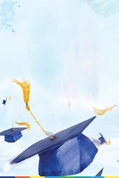 Bachelor cap graduation poster background The other day was a Exclusive day. Graduation Clip Art, Graduation Images, Graduation Diy, Diy Mother's Day Food, Graduation Wallpaper, Congratulations Card Graduation, Certificate Background, Mother's Day Background, School Border