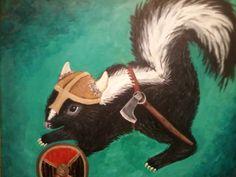 Viking Skunk on Etsy, $60.00