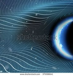 Gravitational Wave Forces on Stars and Planet - buy this illustration on Shutterstock & find other images.