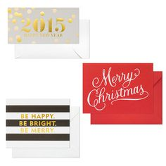 Cute & stylish holiday cards: Sugar Paper, sugarpaper.com #InStyle