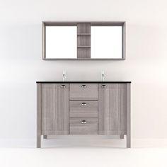 meuble salle de bain long island gris