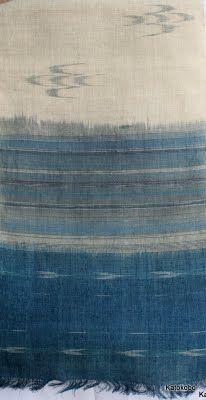 Weft ikat - Kato's Weaving Gallery. Okanawan textiles