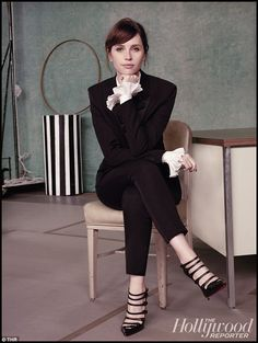 Newcomer: British actress Felicity Jones, 31, was certainly in good company in the shoot ...