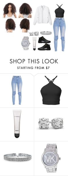 """""""nite WIT squad"""" by babeylay ❤ liked on Polyvore featuring MAC Cosmetics, Bling Jewelry and Michael Kors"""