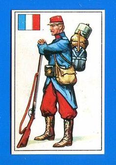 ARMI E SOLDATI - Edis 71 - Figurina-Sticker n. 316 - UNIFORME FRANCESE -Rec