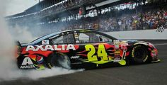 In 2014 Jeff Gordon celebrated winning his Brickyard 400 20 years after winning the inaugural Brickyard 400 Jeff Gordon Car, Nascar Diecast, Nascar Racing, Paint Schemes, 20 Years, Race Cars, Chevy, Awesome, Collection