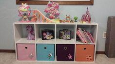 My Little Pony Shelf with Storage Bins and Books