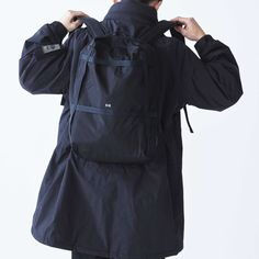 CIE - GRID BACKPACK-01 Grid, Raincoat, Backpacks, Jackets, Fashion, Rain Jacket, Down Jackets, Moda, Fashion Styles