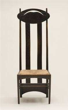 from bklyncontessa :: via Detroit Institute of Arts - Charles Rennie Mackintosh chair