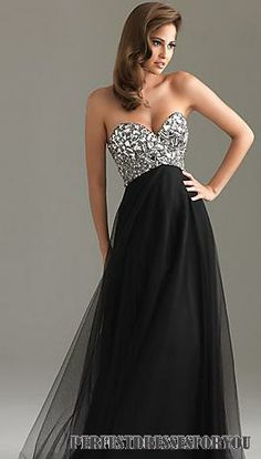 gorgeous black jeweled prom dress