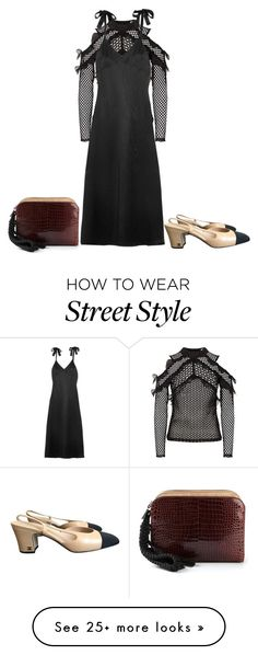 """""""Street style"""" by baldwincaleigh on Polyvore featuring self-portrait, Reformation, Chanel and The Row"""