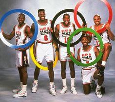 Michael Jordan, Patrick Ewing, Magic Johnson, Karl Malone, and Charles Barkley