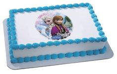 Whimsical Practicality Frozen Sisters Edible Cake Topper for Cakes Cookies and Cupcakes * Details can be found by clicking on the image.
