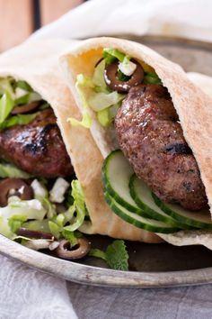Greek Lamb Burgers w