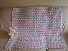 Baby Shells and Ribbon Afghan - free crochet pattern