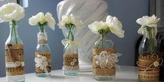 12 ideas para decorar botellas de cristal