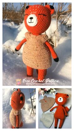 Free Crochet, Crochet Hats, Step By Step Crochet, Cute Fox, Learn To Crochet, Free Pattern, Crochet Patterns, Homemade, Etsy
