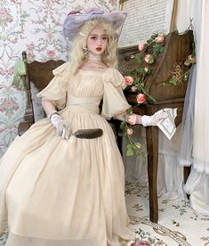 Lost Angel -Afuluoditei- Long Version Lolita OP Dress Romantic Clothing, Romantic Outfit, Lolita Dress, Lost, Angel, Clothes, Dresses, Fashion, Wraps