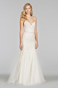 5703b3cf4ba jim hjelm spring 2014 ivory over taupe wedding dress straps gored godet  skirt style jh8400 Jim