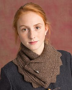 Augustine cowl // bulky // could always double up some yarn // free // Classic Elite