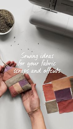 Sewing Basics, Sewing Hacks, Sewing Crafts, Sewing Diy, Sewing Ideas, Diy Crafts For Home Decor, Small Sewing Projects, Lavender Sachets, Fashion Sewing
