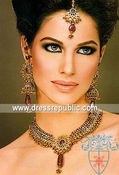 Style DRJ1442, Product code: DRJ1442, by www.dressrepublic.com - Keywords: Kundan Jewellery in London, UK - Kundan Pakistani Indian Jewellery Stores London, UK