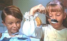 "*MICHAEL & JANE ~ Mary Poppins, 1964....""Mmmm Lime Cordial!""  & ""Mmmm Strawberry!"""