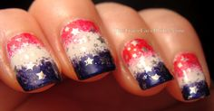 The TraceFace Philes: Happy Independence Day! my-nails Love Nails, Pretty Nails, Style Nails, Funky Nails, Usa Nails, Patriotic Nails, 4th Of July Nails, July 4th, Fru Fru