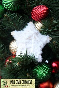 Busy Kids = Happy Mom: Yarn Star Ornaments