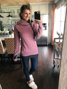 Double hooded sweatshirt - the comfiest cutest outfit! Available in a TON of colors! Click on the photo for direct links to shop!