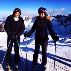 Skiing is great for the cardio conditioning, muscle strength and social scene too! Top of the Swiss Alps in Verbier Switzerland