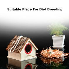 Creative Bird Nest Simulated Bark House Shape Bird Breeding Box Pet Toys Bird Breeds, Bird Cages, Pet Toys, Pet Supplies, Nest, Shapes, Box, Creative, Outdoor Decor