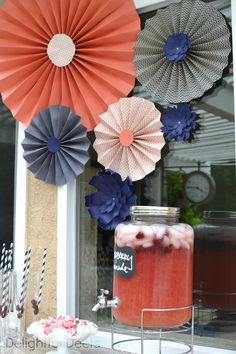 Delightful Deets: Navy & Coral Baby Shower for Summer