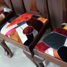 i love crazy quilts and i love these chairs.....i think i am going to transform my chairs.