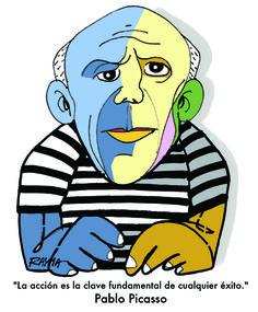 Caricatura: Pablo Picasso, por Rayma