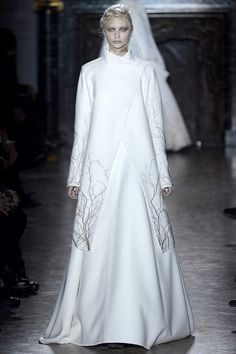 asymmetrical, white. trees. I love trees, and full skirts, and asymmetry, so this is pretty great. Gareth Pugh