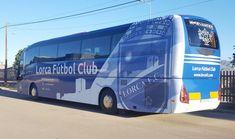 Vinilado integral bus LORCA FÚTBOL CLUB en impresión digital. www.logovision.es