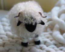 Handmade Needle felted Valais Blacknose sheep. UK seller