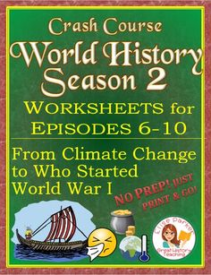 Crash Course World History Season 2 Worksheets will jazz up your history teachin. - Crash Course World History Season 2 Worksheets will jazz up your history teaching with THEMES, so s - Teaching Materials, Teaching Tools, Student Learning, Teaching Resources, Teaching Ideas, Crash Course World History, Map Worksheets, Printable Worksheets, Fall Cleaning
