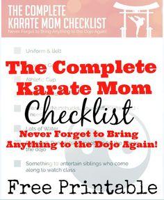 Complete Karate Mom Checklist Printable #FuelTheirAdventures #CollectiveBias #ad
