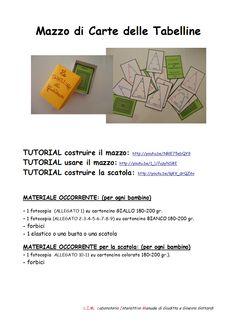 Ripassare e studiare le Tabelline non è mai stato così semplice!!! Scarica la scheda tecnica con gli allegati: http://laboratoriointerattivomanuale.files.wordpress.com/2014/05/mazzo_di_carte_delle_tabelline_scheda_tecnica_lim.pdf