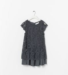 EMBROIDERED DRESS WITH CONTRASTING LINING - Dresses - Girl (2 - 14 years) - KIDS | ZARA United States