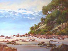 Beach at Savary Island Amanda Jones, Community Art, My Happy Place, British Columbia, Serenity, This Is Us, Canada, Island, Mountains