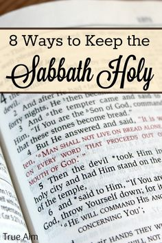 How to Keep the Sabbath Holy with kids #ShareGoodness Because the Sabbath is still sacred, or should be!