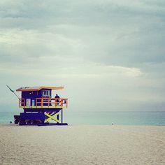Lifeguard booth - Miami Beach - Miami Tour 2015