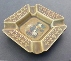 #antique collectible ashtray Ireland ceramic squared Made in Ireland visit our ebay store at  http://stores.ebay.com/esquirestore