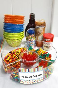 Mini ice cream bar - great idea using a chip/dip bowl!#Repin By:Pinterest++ for iPad#